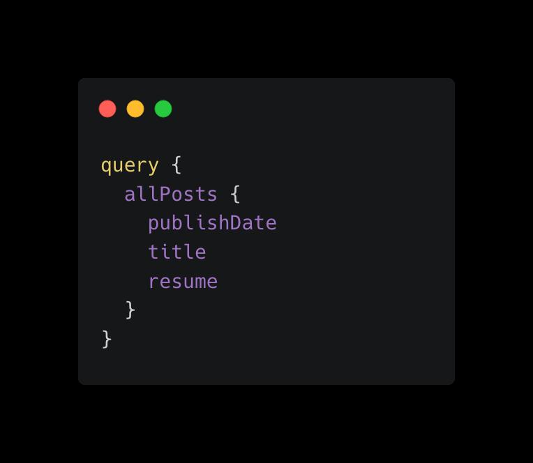 Exemplo de query com GraphQL